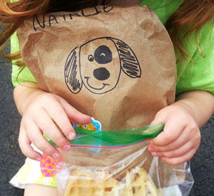 Fully Disposable Sack Lunch for Toddlers