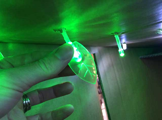 LED Leaf Light Caps