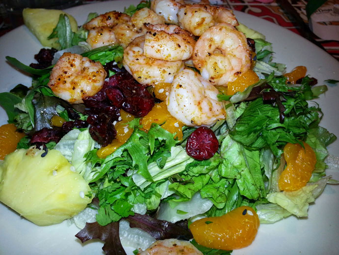 Grilled Shrimp Salad Entree