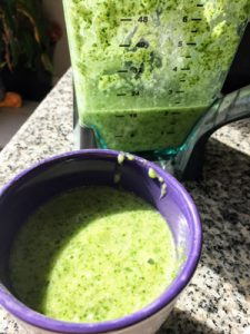 Healthy Green Smoothies with Leftover Milk