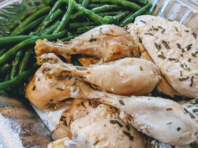 Chicken and Green Beans Leftovers for Quick Lunch