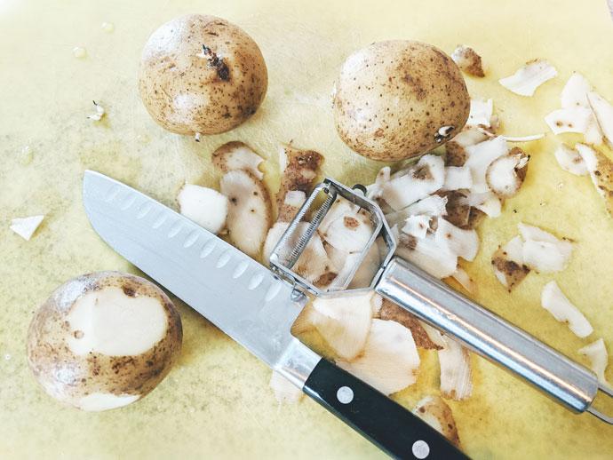 Making Fried Mashed Potatoes
