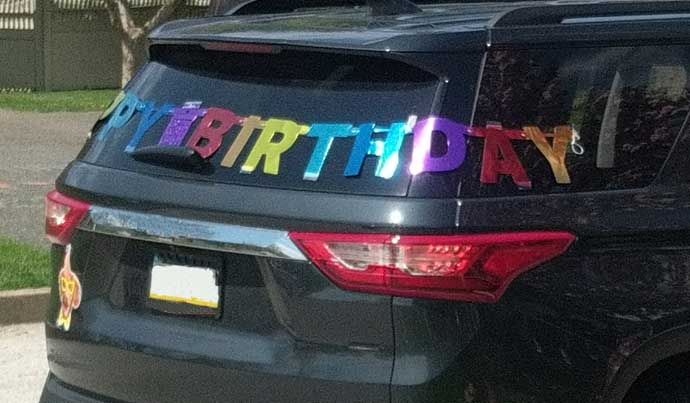 Social Distancing Birthday Car Parade