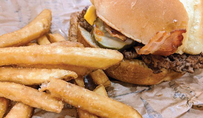 Bacon Cheeseburger and Fries!