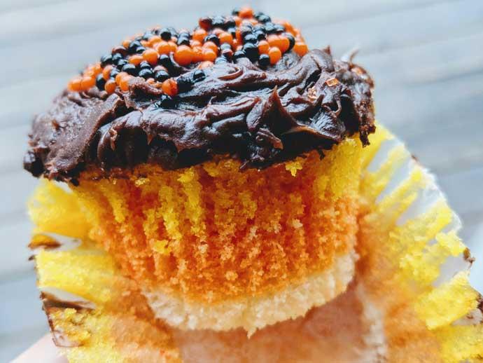 Homemade Candy Corn Cupcakes