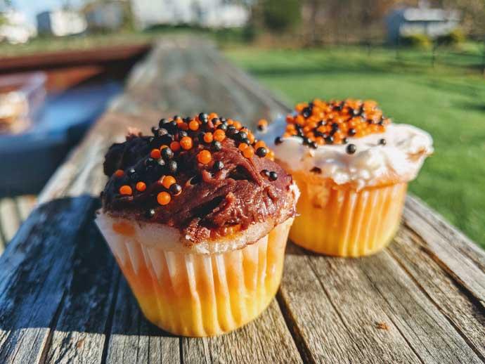 Halloween Mini Candy Corn Cupcakes