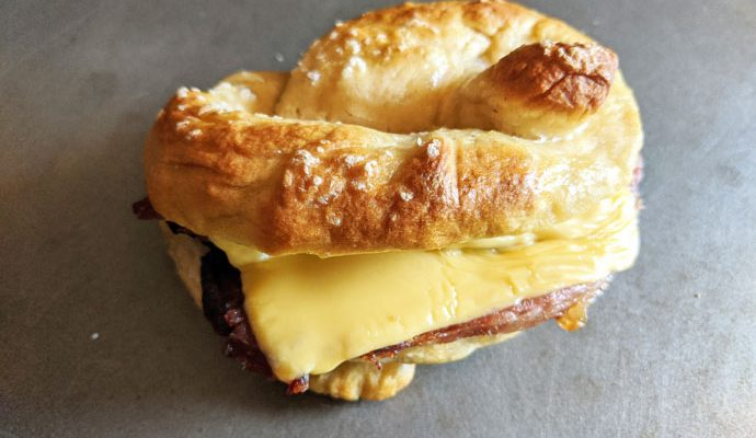 Homemade Ham & Cheese Pretzelwich - Incredible for At-Home School Lunches, Tailgating, Work-from-home Lunch, Cozy Fall Dinner and More!