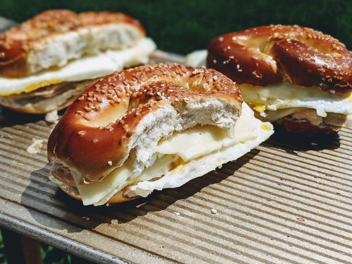 Turkey and Cheese Pretzel Melt