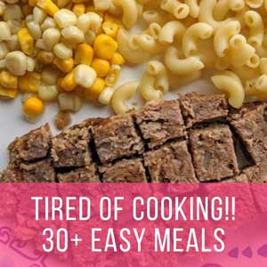 Tired of Cooking? 30+ Quick and Easy Meals to Make