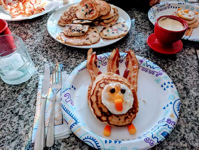Thanksgiving Pancakes - Turkey Shaped Pancakes