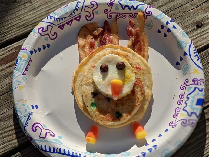 turkey shaped pancakes